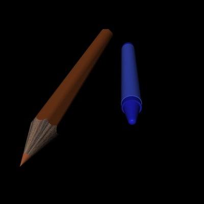 free crayons 3d model