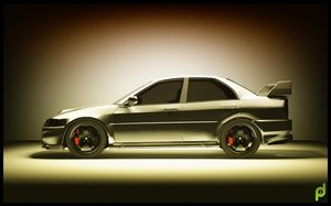 mitsubishi lancer evolution vi 3d model