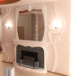 classic fireplace 3d model