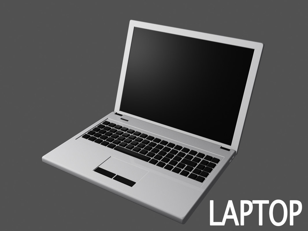 3d model laptop scene