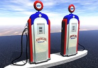 3d antique gasoline pump model