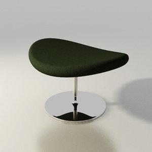 artifort chair globe pierre paulin 3d model