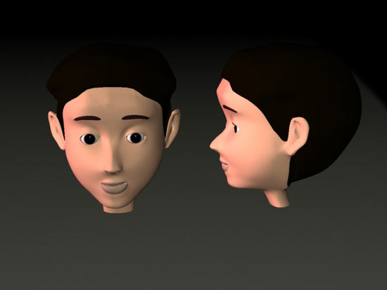 3d max boy face