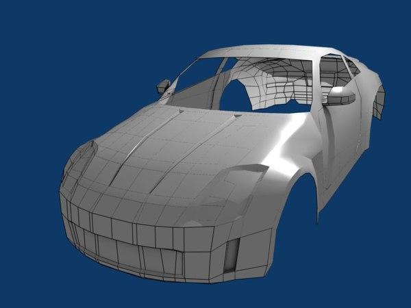 free body nissan 350z 3d model