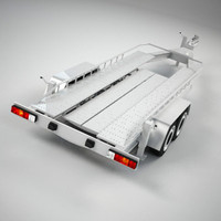 3ds max car transport trailer
