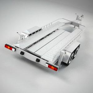 3ds max car transport trailer