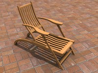 3ds max chair lawnchair