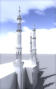 mosque tower 3d max