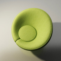 3d artifort chair design pierre paulin
