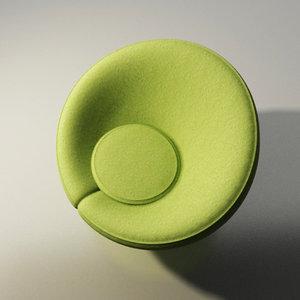 3d artifort chair design pierre paulin