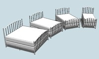 3ds max kit open rail beds