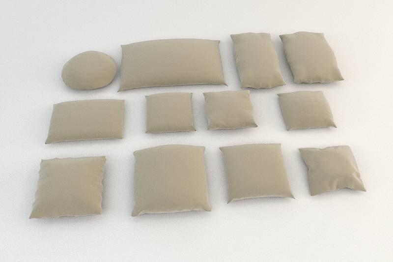 3d photoreal 2009 pillow model