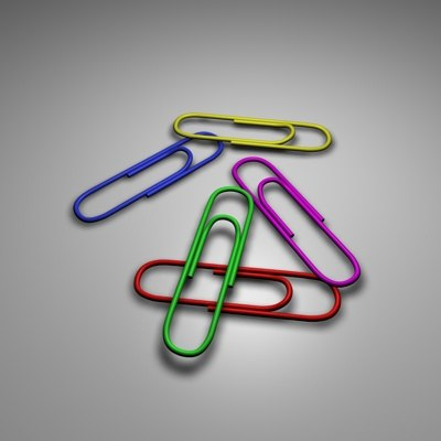 free paper-clip paper 3d model