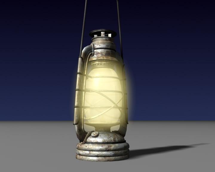 maya old petrol lamp