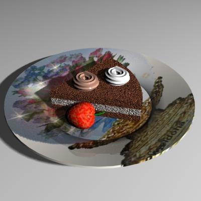 3d model plate dish seat