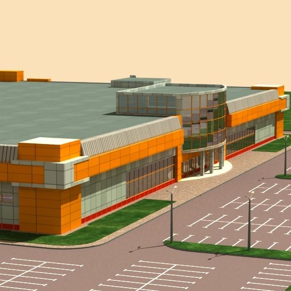 3d supermarket model