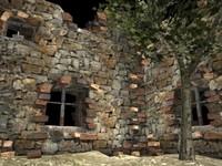 castle ruins 3d obj
