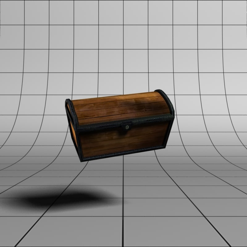 3d model of treasure chest