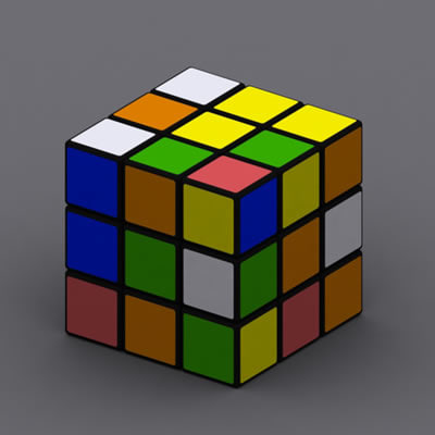 cube puzzle hungary 3d model