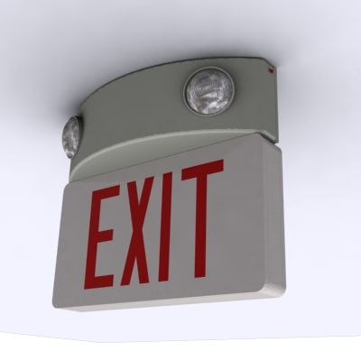 3d emergency safety exit model