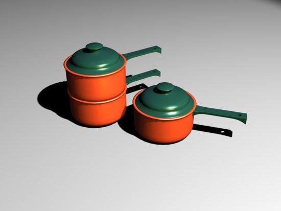 saucepan 3d model
