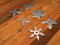 3d obj 6 shurikens