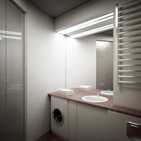 3d model of bathroom room