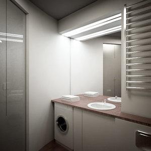 3d model of bathroom room
