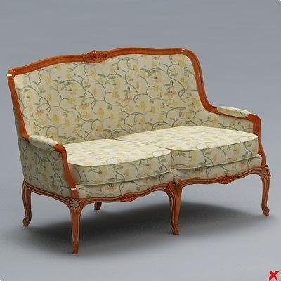 3dsmax sofa old fashioned