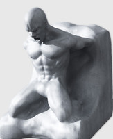 lwo sculpture man stone statue