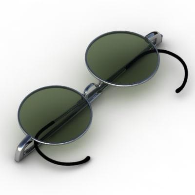 3d model sun glasses