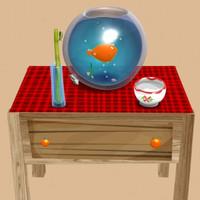 Cartoon Aquarium & Table