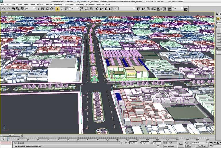 3d model city outdoor