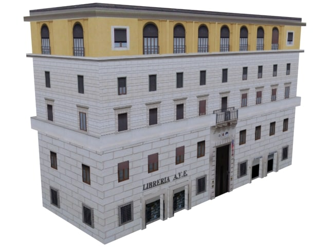 3d residence building streets