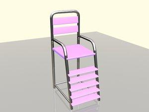 umpire chair tennis 3d model
