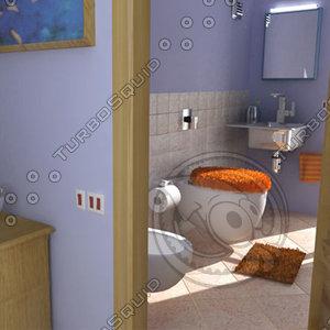 3d bathroom fur
