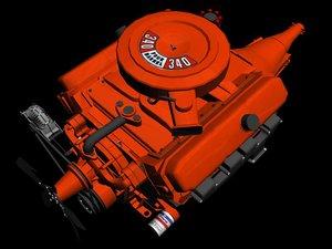 3ds max crysler v8 engine 340