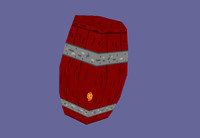 3D model Wooden Barrel.bmp