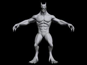 werewolf manitou 3d obj