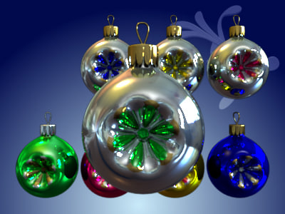toy ball christmas tree 3ds