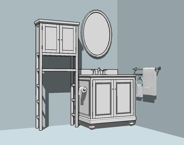 3ds bathroom kit cabinet