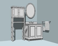 3ds bathroom kit cabinet