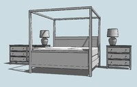 Contemporary Style Bedroom Set/Kit
