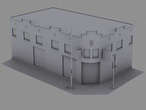 3d 3ds building facade