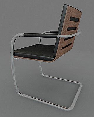chair thonet s60 3d model