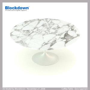 eero saarinen table 3d max