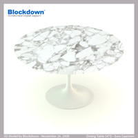 eero saarinen table 3d model