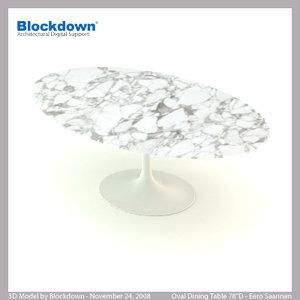 eero saarinen table 3d model