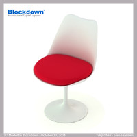 3ds max eero saarinen knoll chair