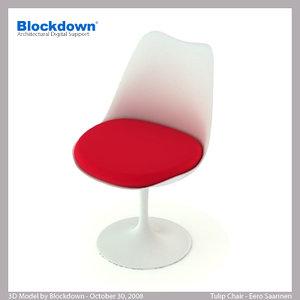 3ds max eero saarinen knoll chair